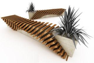 My Urban Garden Deco Guide  Cisca urban seat  wood and concrete