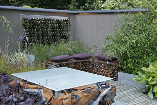 Second Chelsea Flower Show garden- recyled-recycling- silver -mandy buckley - greencubelandscapes