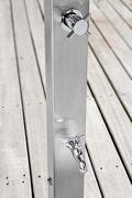 Stainless steel shower by un jardin a l autre foot shower at maison et objet